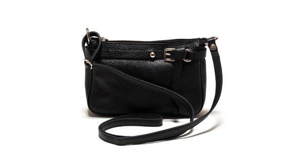 Dámská černá kožená kabelka přes rameno Isabella Rhea