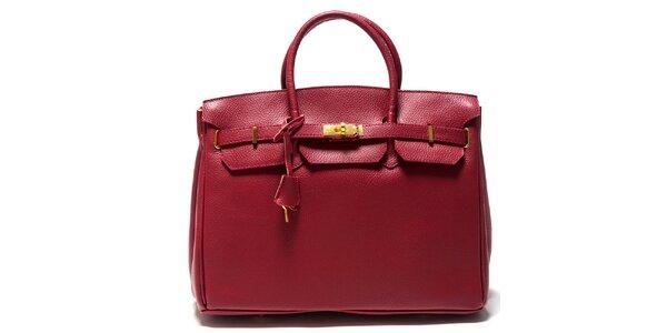 Dámská malinová kufříková kožená kabelka Isabella Rhea