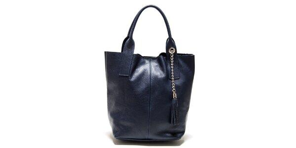 Dámská modrá kabelka s třásněmi Isabella Rhea