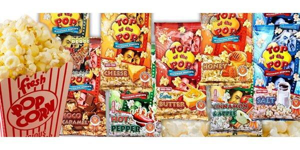 Devět sáčků lahodného popcornu - 9 příchutí!