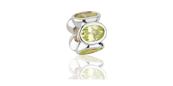 Stříbrný přívěsek Pandora se zelenými broušenými kamínky