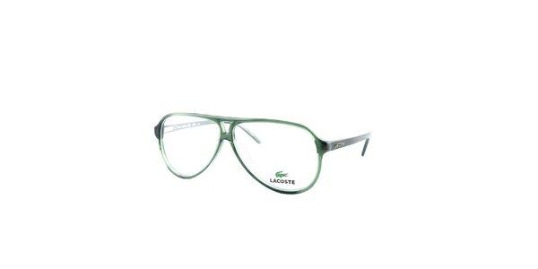 Zelené obroučky se vzorovanými stranicemi Lacoste