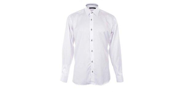 Pánská bílá košile s černými detaily Dicotto