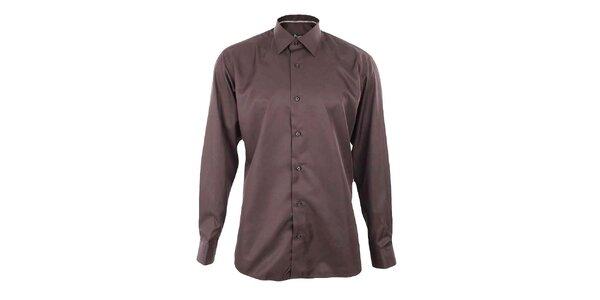 Pánská hnědá košile Dicotto