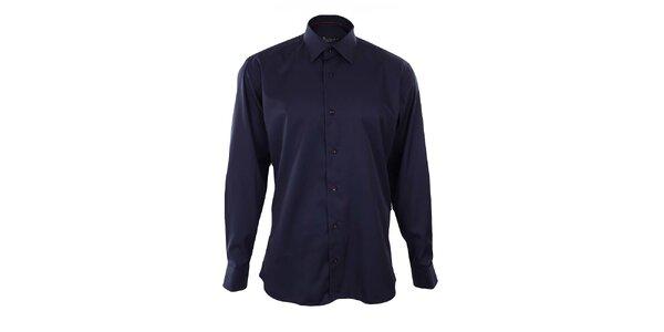 Pánská tmavě modrá košile s červenými detaily Dicotto