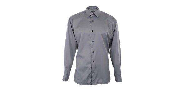 Pánská šedá košile s černými detaily Dicotto