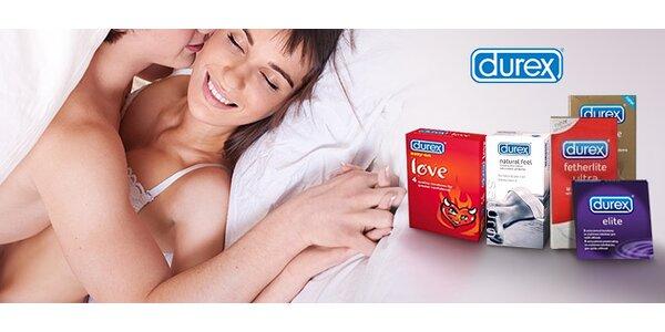 Balíčky až 48 kondomů Durex