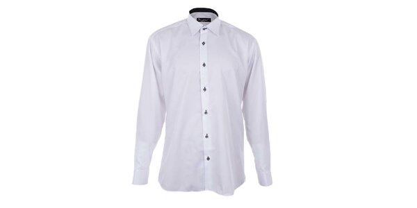 Pánská bílá košile s kontrastní légou Dicotto