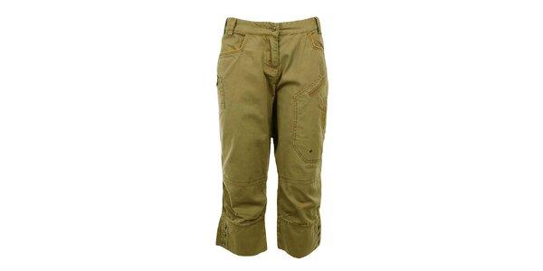 Dámské khaki capri kalhoty Northland