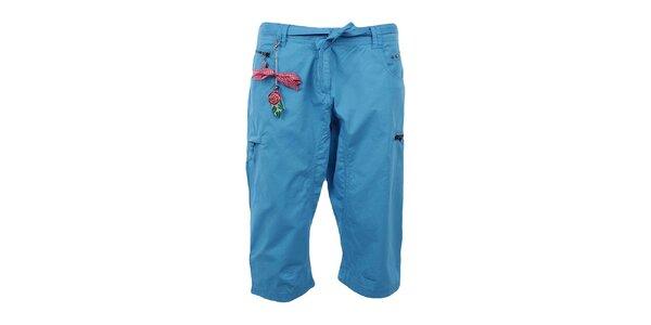 Dámské tříčtvrteční modré kalhoty Northland s přívěskem