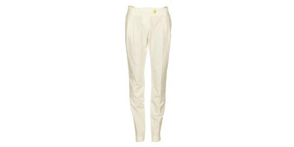 Dámské bílé kalhoty Pietro Filipi se zlatými knoflíky