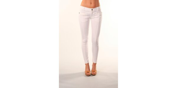 Dámské bílé džíny se svislými švy Beste Bat