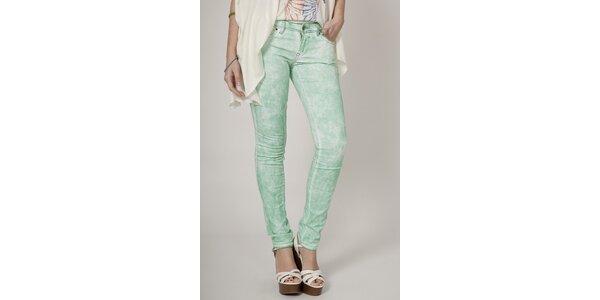 Dámské mátově zelené plísňové džíny Mell