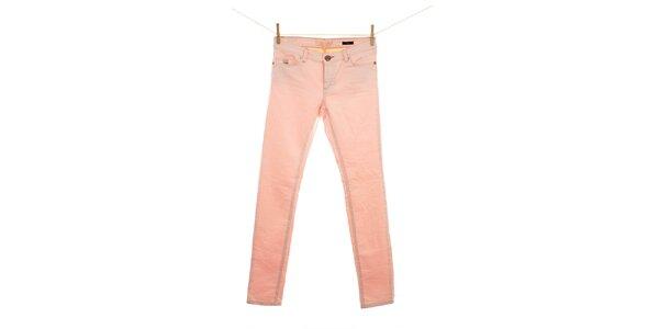 Dámské růžové slim džíny Fuga