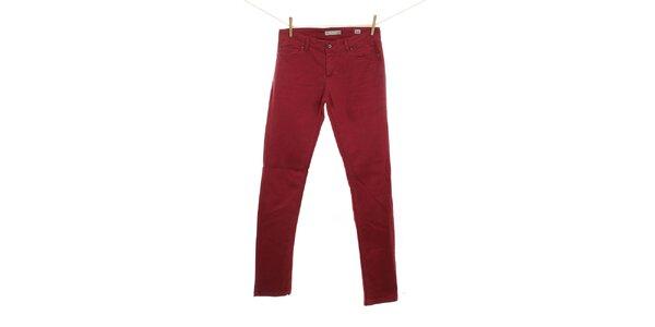Dámské tmavě červené džíny Fuga