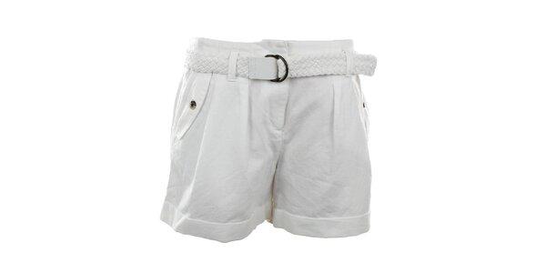 Dámské bílé šortky s páskem Tommy Hilfiger