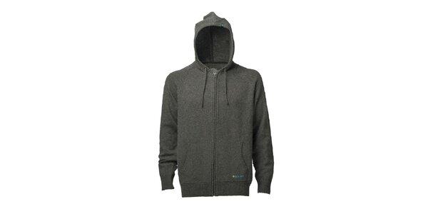 Pánský tmavě šedý svetr s kapucí