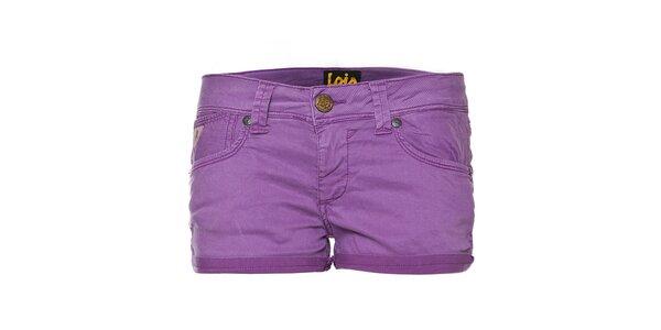 Dámské fialové mini šortky Lois