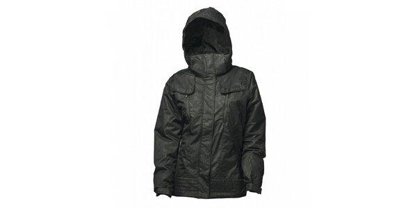 Dámská černá bunda Fundango s potiskem a membránou