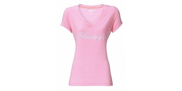 Dámské světle růžové tričko Fundango s potiskem