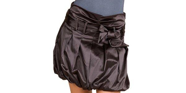 Dámská tmavě hnědá balonová sukně Keysha