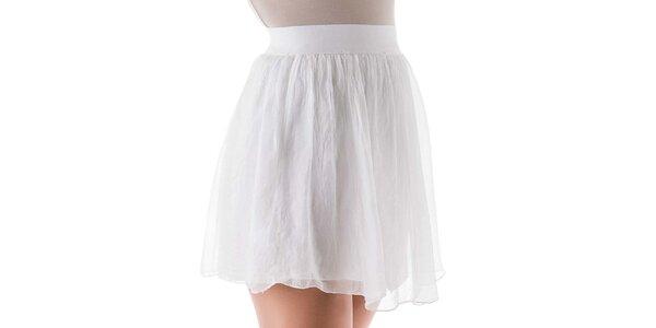 Dámská krátká bílá hedvábná sukně Keysha