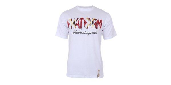 Pánské bílé tričko s potiskem na hrudi Phat Farm