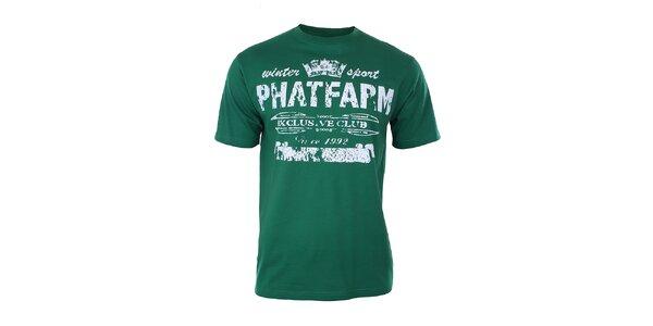 Pánské lahvově zelené tričko Phat Farm