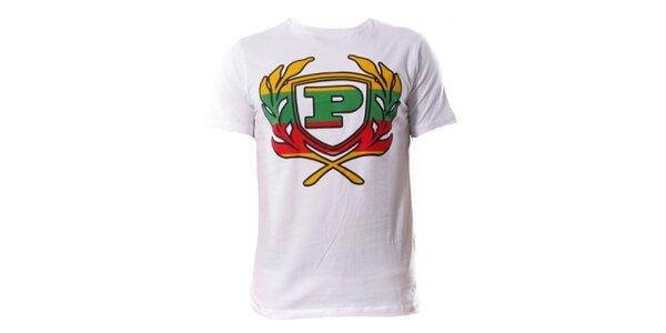 Pánské bílé tričko s barevným znakem Phat Farm