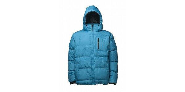 Pánská azurově modrá prošívaná zimní bunda Fundango