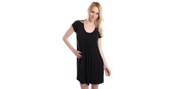 Dámská černá noční košile s plisováním DKNY
