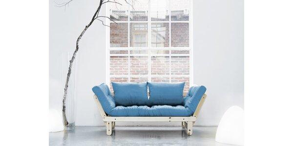 Rozkládací sofa KARUP BEAT PINE/HORIZON BLUE