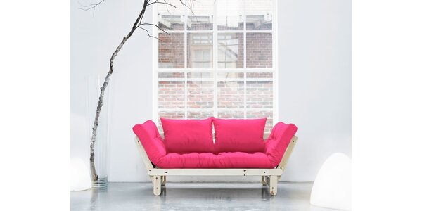 Rozkládací sofa KARUP BEAT PINE/MAGENTA