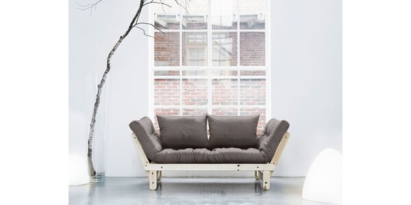 Rozkládací sofa KARUP BEAT PINE/GRIS