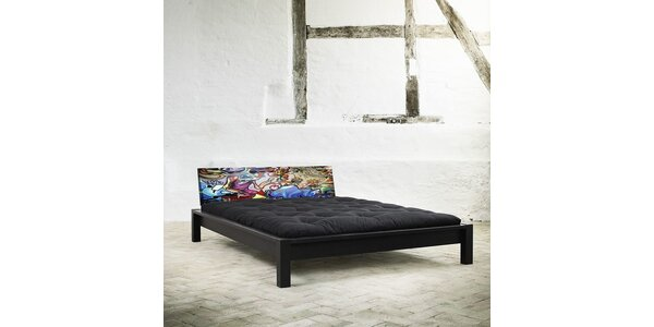 Postel KARUP TAMI BLACK/GRAFITTI MULTICOLOR