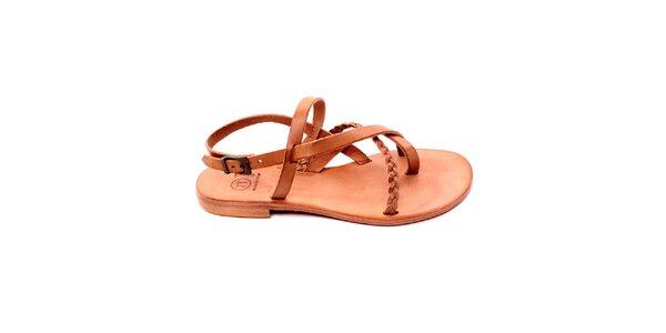 Dámské béžové sandálky s copánkem Bagatt