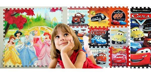 Pěnové puzzle Cars či Princezna