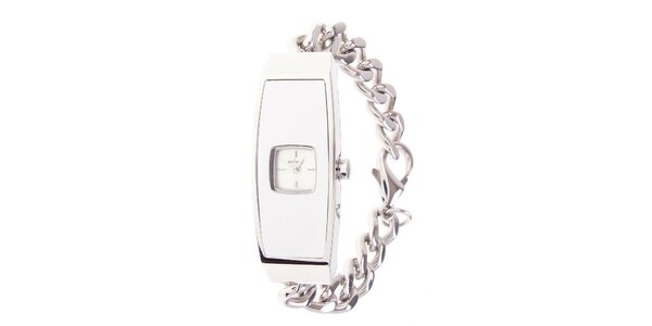 Dámské ocelové hodinky Axcent s bílým ciferníkem