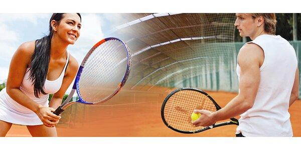 Hodina tenisu v kryté a klimatizované hale