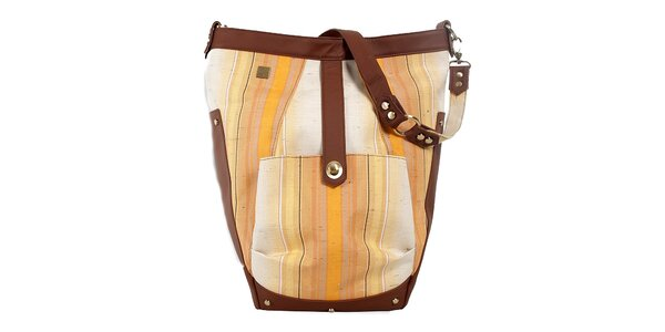 Dámská světlá kabelka s béžovo-hnědými detaily Jahn for Jahn