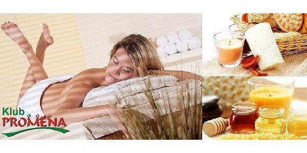 80minutový medový obřad, přírodní peeling celých zad a boků + medová masáž a…