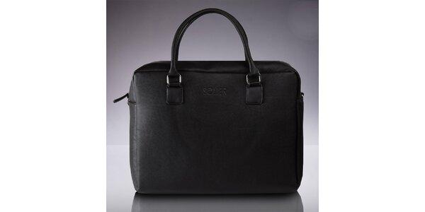 Pánská taška s popruhem v černé barvě Solier