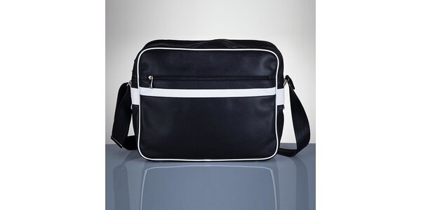 Pánská černá taška s bílými prvky Solier