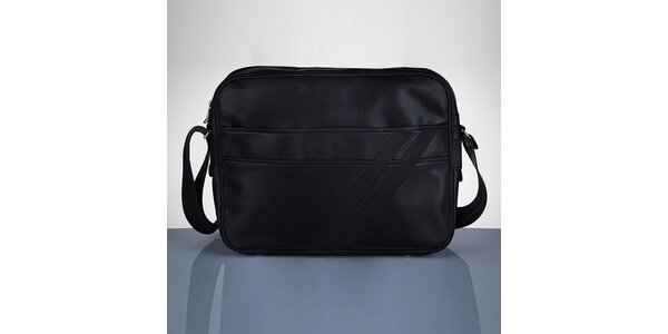 Pánská černá taška se dvěma proužky Solier