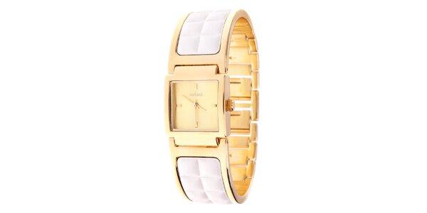 Dámské zlaté náramkové hodinky Axcent s kombinovaným řemínkem