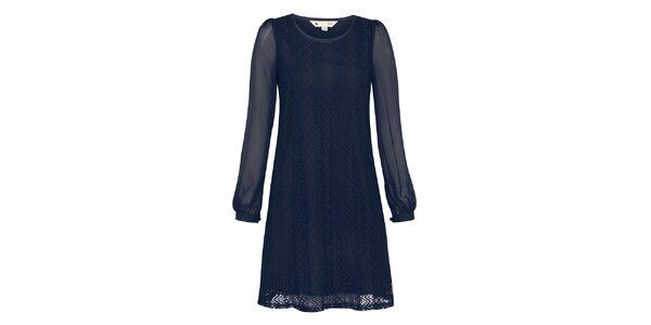 Dámské modré krajkové šaty Yumi