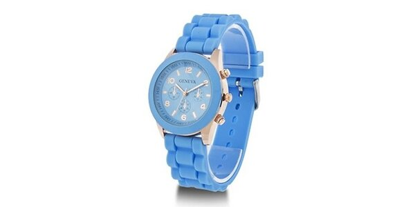 Geneva Color/Light blue unisex hodinky