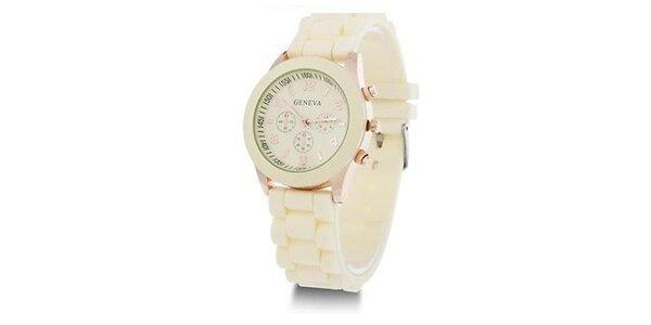 Geneva Color/Creme unisex hodinky