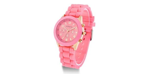 Geneva Color/Light pink unisex hodinky