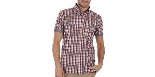 Pánská kostkovaná košile s krátkými rukávy Bendorff Next